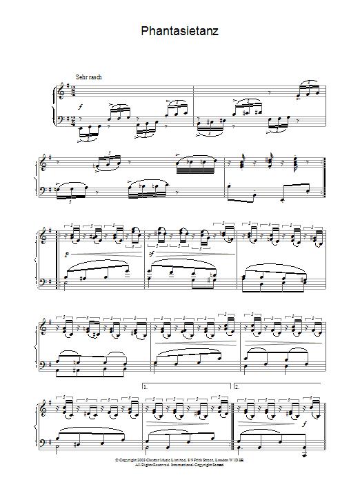 Phantasietanz (Piano Solo)