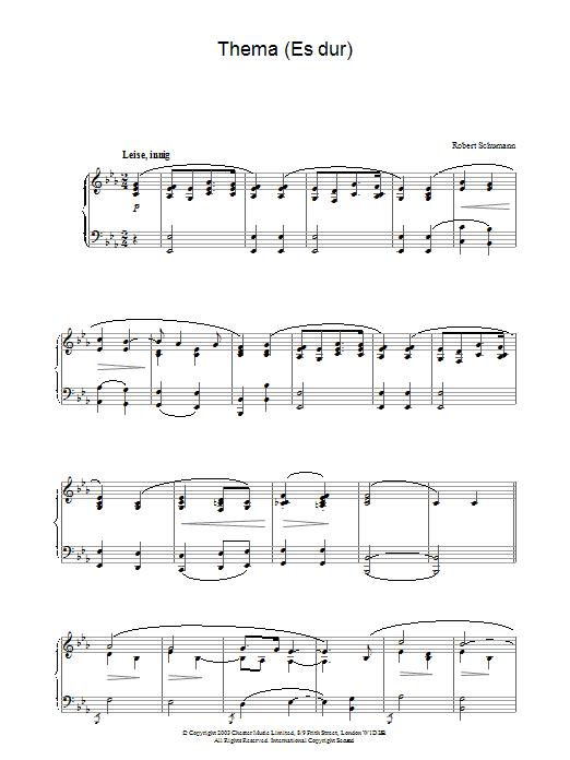 Thema (Es dur) (Piano Solo)