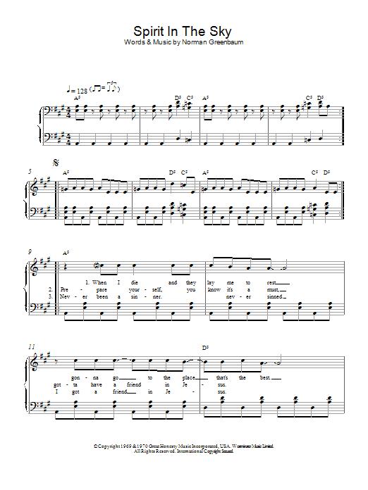 Spirit In The Sky (Piano Solo)