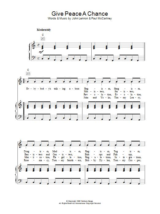 Give Peace A Chance Sheet Music