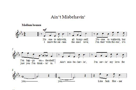 Ain't Misbehavin' Sheet Music