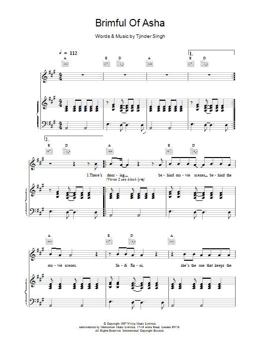 Brimful Of Asha Sheet Music