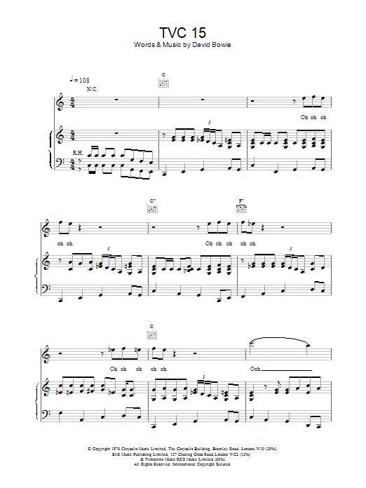 TVC15 Sheet Music