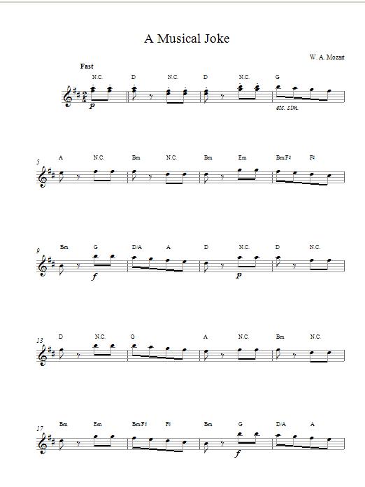 A Musical Joke Sheet Music
