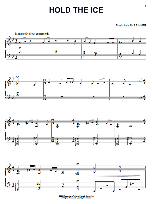 Hold The Ice (from King Arthur) Sheet Music