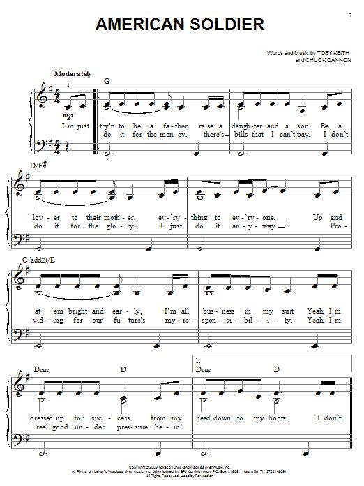 American Soldier Sheet Music