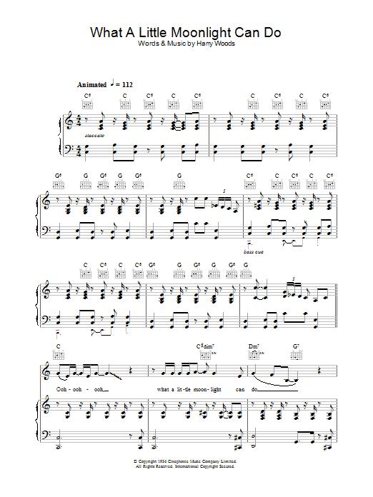 What A Little Moonlight Can Do Sheet Music