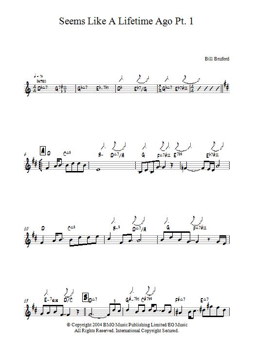 Seems Like A Lifetime Ago Pt. 1 (Piano Solo)