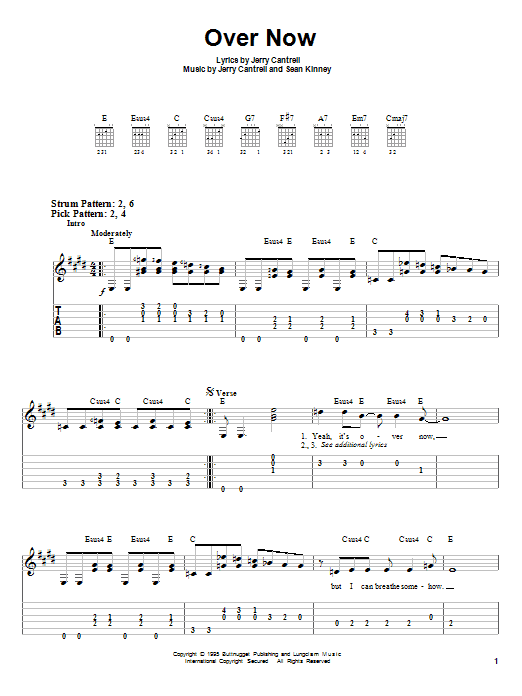 Over Now (Easy Guitar Tab)