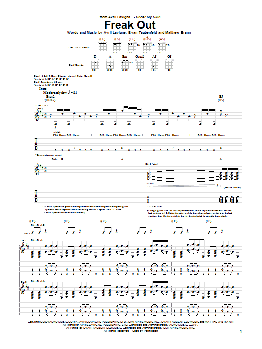 Freak Out Sheet Music