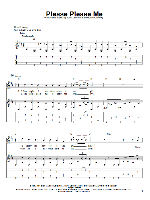 Please Please Me (Solo Guitar)
