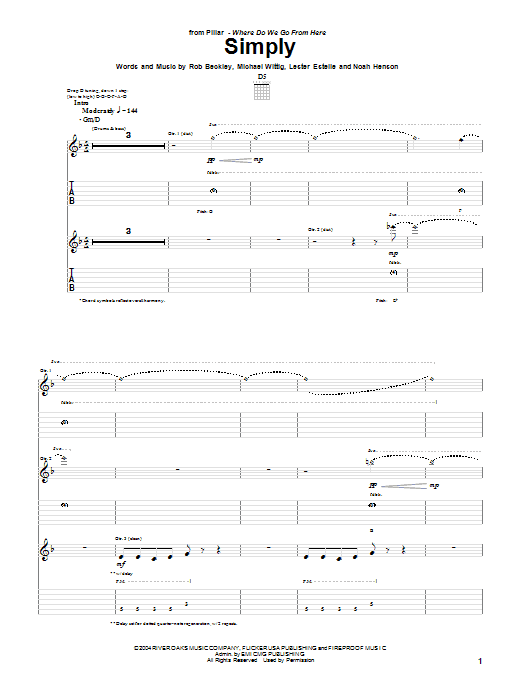 Simply (Guitar Tab)