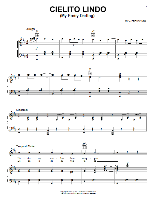 Cielito Lindo (My Pretty Darling) Sheet Music