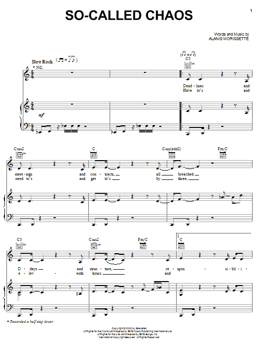 So-Called Chaos Sheet Music