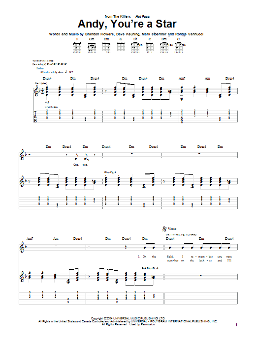Andy, You're A Star (Guitar Tab)