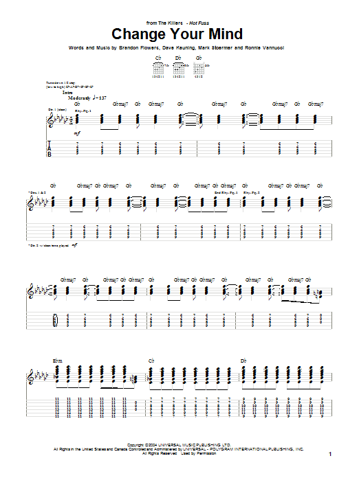 Change Your Mind Sheet Music