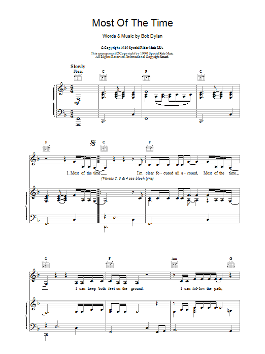 Most Of The Time (from High Fidelity) Sheet Music