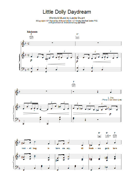 Little Dolly Daydream Sheet Music