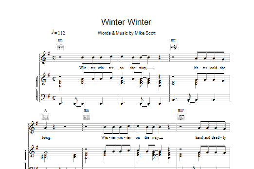 Winter Winter Sheet Music