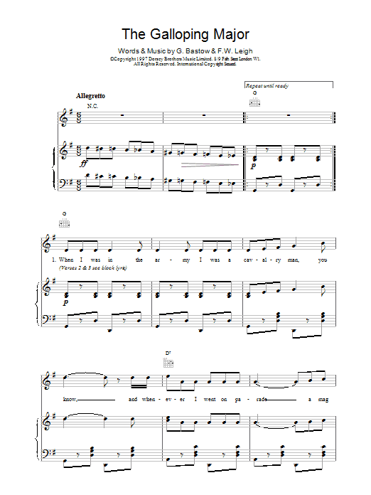 The Galloping Major Sheet Music