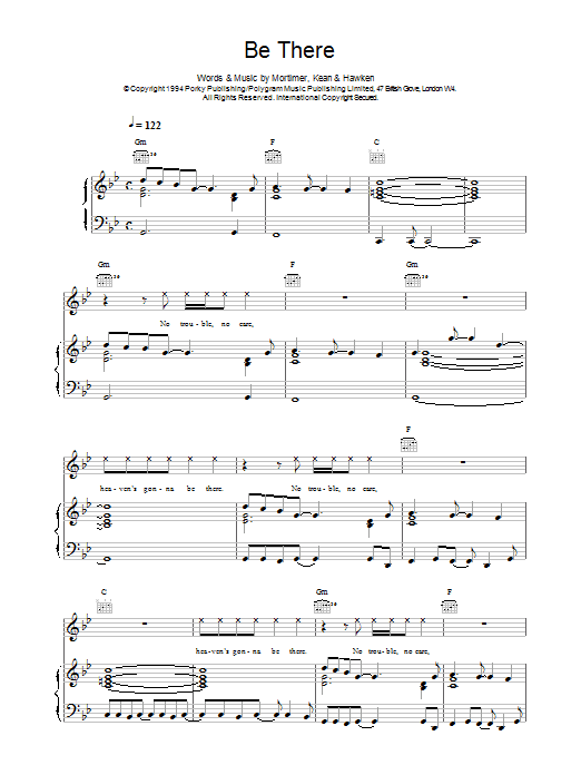 Be There Sheet Music