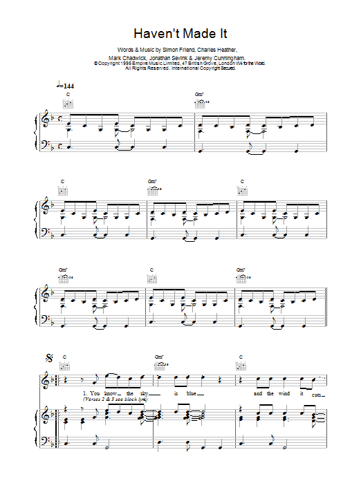 Haven't Made It Sheet Music