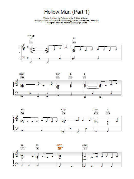 Hollow Man (Part 1) Sheet Music