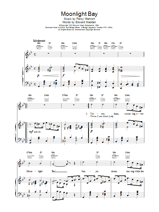 Moonlight Bay Sheet Music