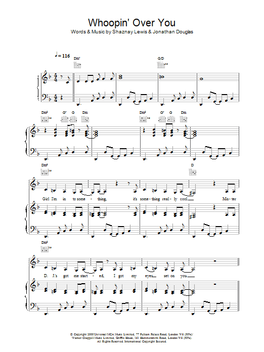 Whoopin' Over You Sheet Music