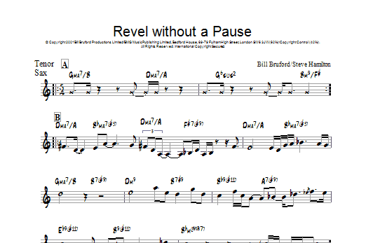 Revel Without A Pause Sheet Music