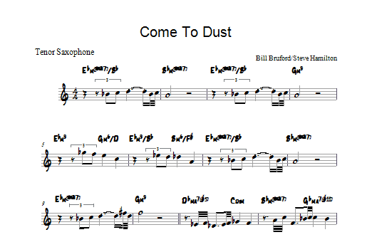 Come To Dust Sheet Music