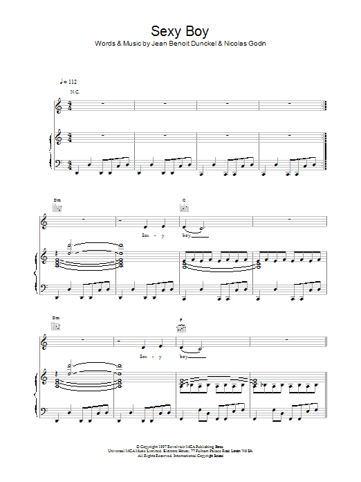 Sexy Boy Sheet Music