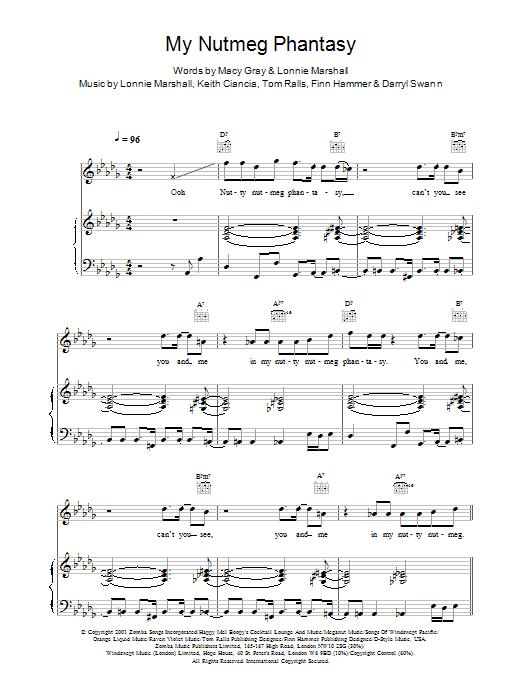 My Nutmeg Phantasy Sheet Music