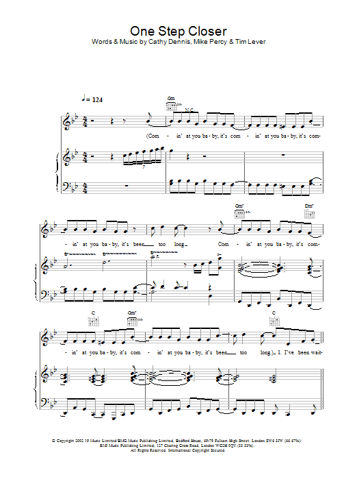 One Step Closer Sheet Music