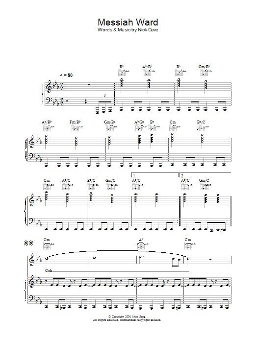 Messiah Ward Sheet Music