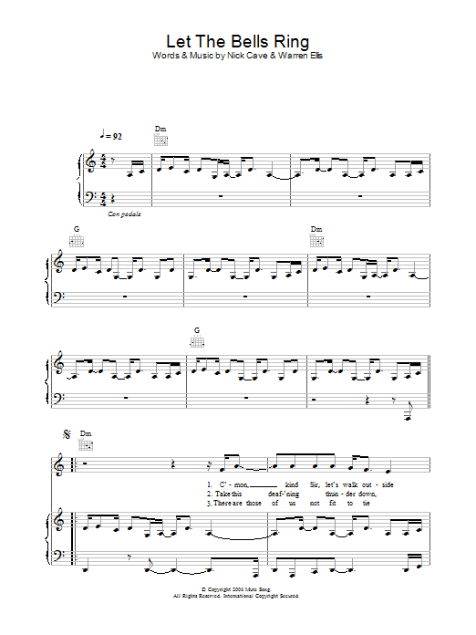 Let The Bells Ring (Piano, Vocal & Guitar)