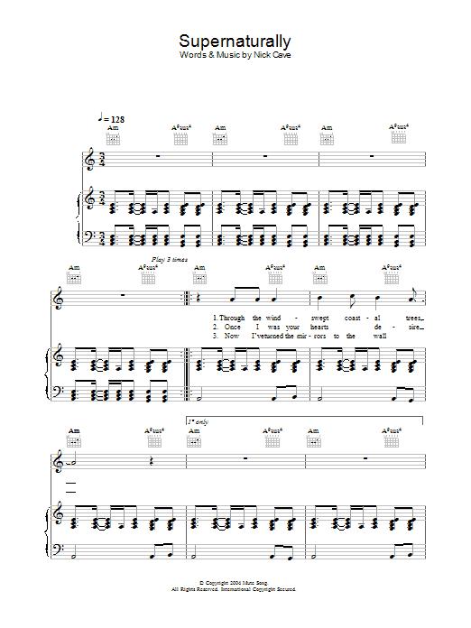 Supernaturally Sheet Music