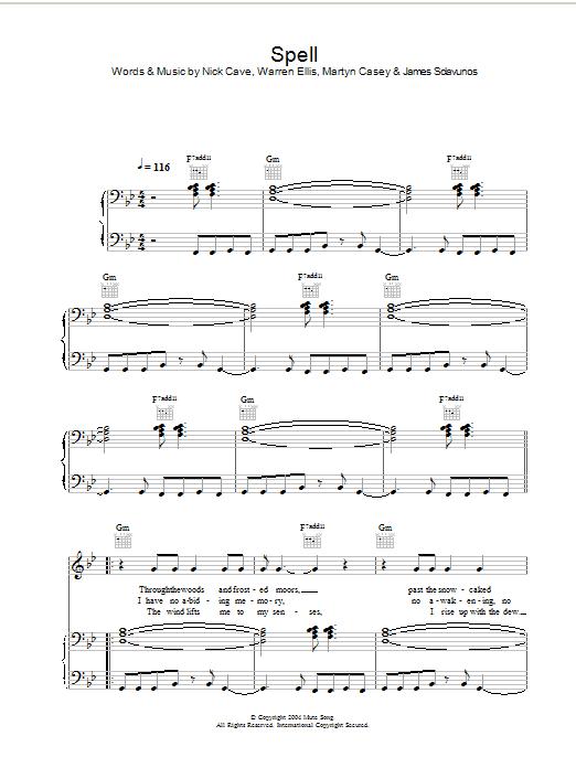 Spell (Piano, Vocal & Guitar)