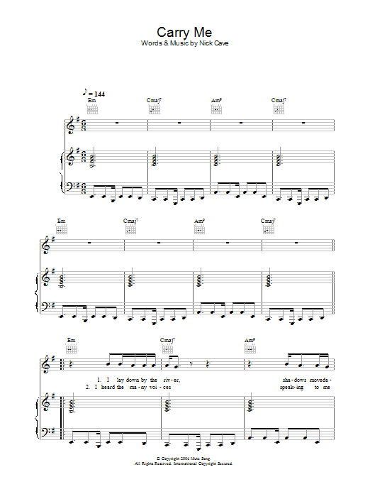 Carry Me Sheet Music