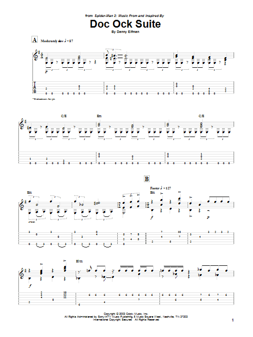 Doc Ock Suite Sheet Music