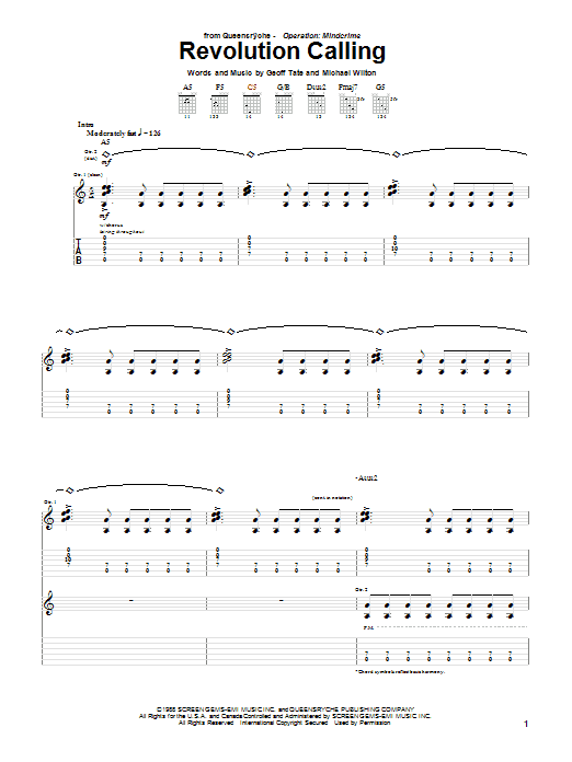 Revolution Calling Sheet Music