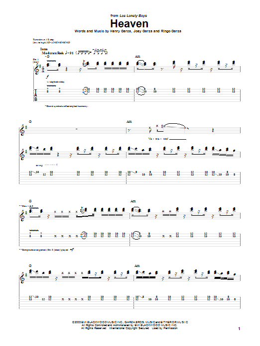 Heaven (Guitar Tab)