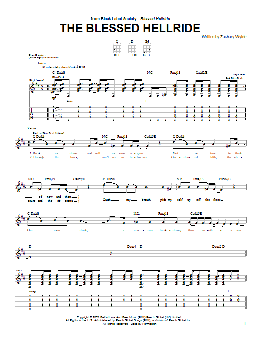 The Blessed Hellride (Guitar Tab)