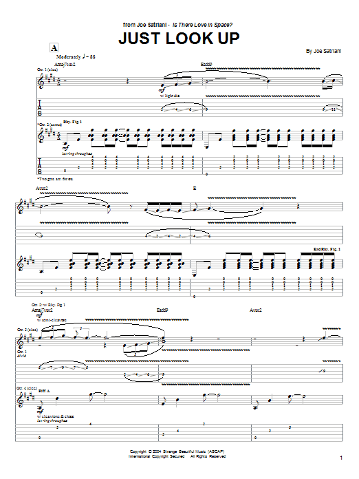 Just Look Up (Guitar Tab)