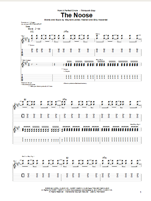 The Noose (Guitar Tab)