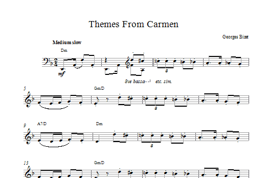 Habanera (from Carmen) Sheet Music