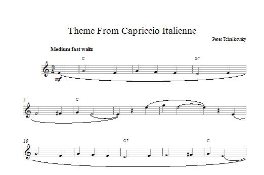 Capriccio Italienne Sheet Music