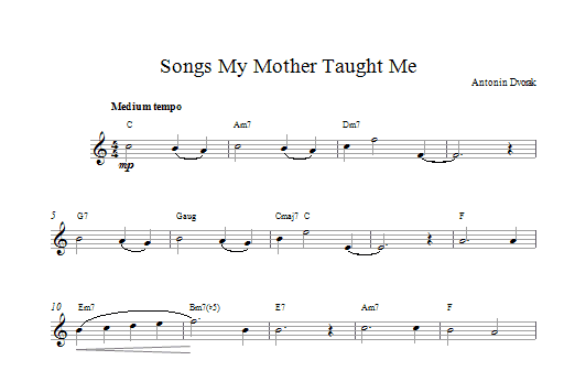 Songs My Mother Taught Me Sheet Music