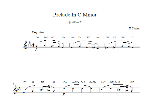Prelude in C Minor, Op.28, No.20 Sheet Music