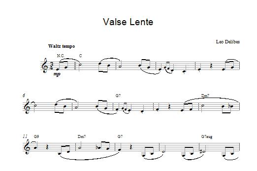 Valse Lenten Sheet Music